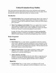 Thesis statement for evaluation essay