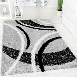 Langflor Teppich Weiß : shaggy grau gemustert hochflor teppiche ~ Frokenaadalensverden.com Haus und Dekorationen