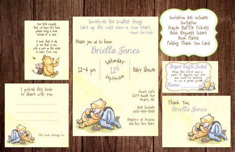 printable winnie  pooh baby shower story book baby shower