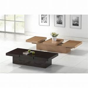 Cambridge Brown Wood Modern Coffee Table with Hidden
