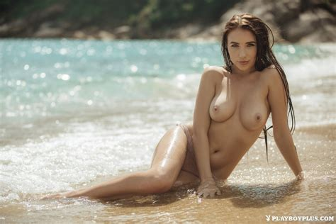 Luscious Niemira Picture Poses Naked On A Beach Of