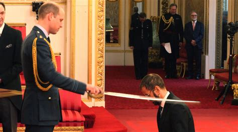beatles ringo starr  knighted  prince william