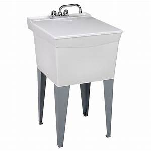 Mustee, Utilatub, Combo, Laundry, Tub, With, Faucet, Supply, Lines, P