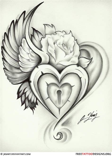 heart tattoo designs ideas  pinterest