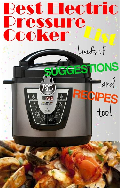 cooker pressure electric recipes meals cooking cookers easy power delicious healthy preparing stainless steel