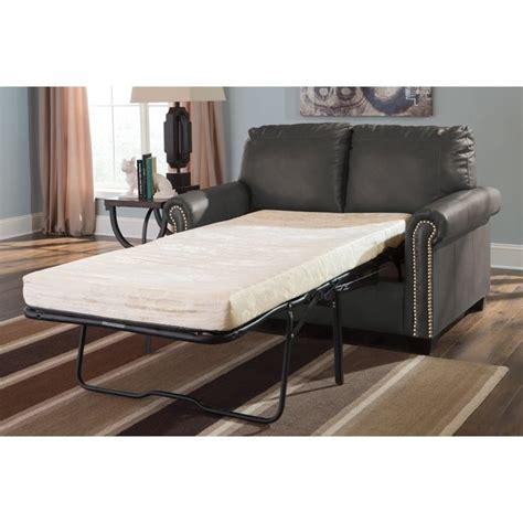 leather twin sleeper sofa ashley furniture lottie leather twin sleeper sofa in slate