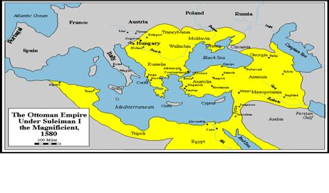 Ottoman Empire 1400 by Ottoman Empire Suleiman The Magnificent 1580 World
