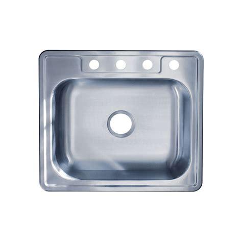 best gauge for stainless steel sink 25 quot x 22 quot x 6 quot top mount single bowl 22 gauge 304