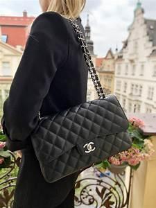 chanel jumbo classic flap bag caviar noir