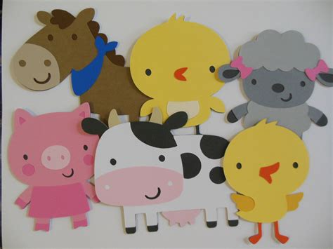 farm animals cut outs farm animal cutouts cow pig and