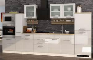 Küchenzeile 360 Cm : k chenzeile m nchen vario 4 k che mit e ger ten breite 360 cm hochglanz wei k che ~ Indierocktalk.com Haus und Dekorationen