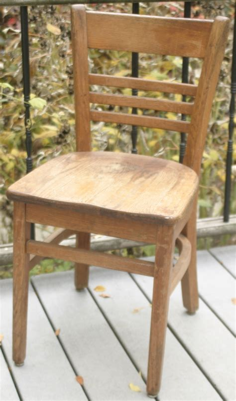 antique buckstaff co oak school chair