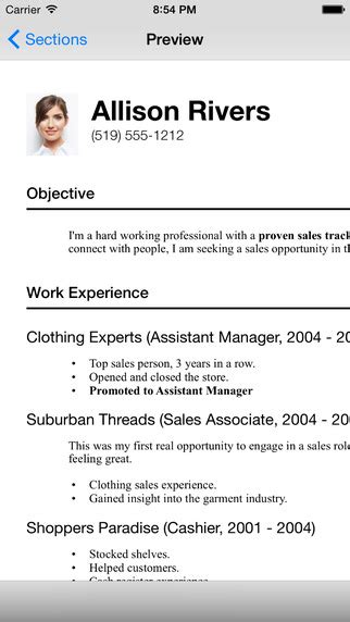 resume designer 3 on the app store