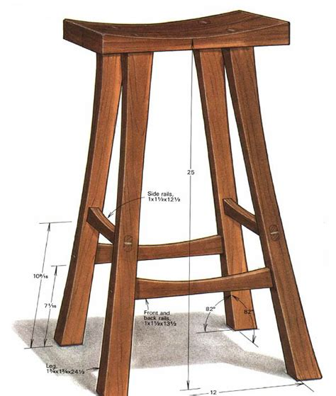 building  stool finewoodworking