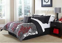 Red Black Grey White Bedroom by Black White Red Bedding EBay