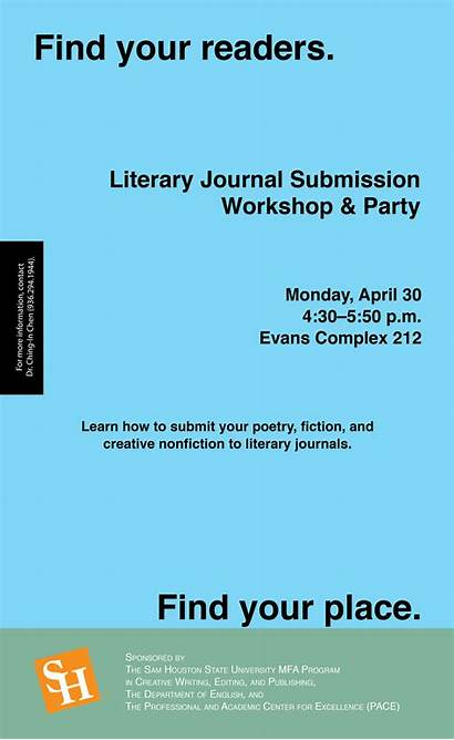 Literary Writing Journal Workshop Creative Submission