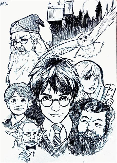 harry potter   philosophers stone coloring pages