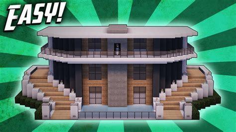 minecraft   build  modern mansion house tutorial  clipzuicom
