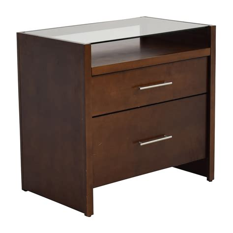 brown desk with drawers 77 off crate and barrel crate barrel brown desk with