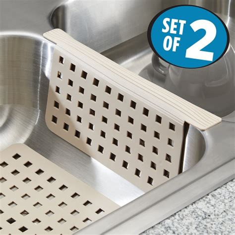 Sink Divider Protector Mats by Mdesign Kitchen Sink Mat And Sink Divider Protector Set