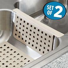 Mdesign Kitchen Sink Mat And Sink Divider Protector  Set