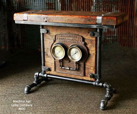 steampunk industrial barn wood antique gauge board stand