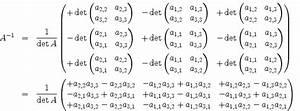 Inverse Berechnen Matrix : mathematik online lexikon determinante und inverse einer 3x3 matrix ~ Themetempest.com Abrechnung