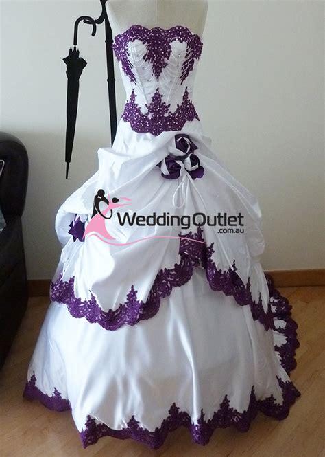 blue and purple wedding dress purple and white wedding dress weddingoutlet com au