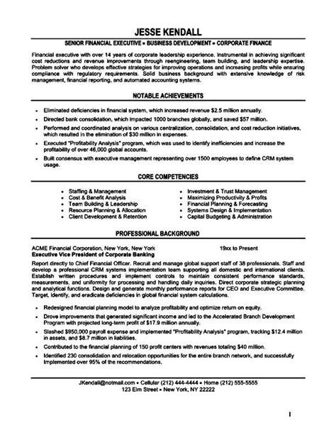 resume sles for finance executives resume format for purchase executive free sles exles format resume curruculum