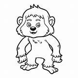 Yeti Coloring Illustration Children Template Dreamstime Illustrations sketch template