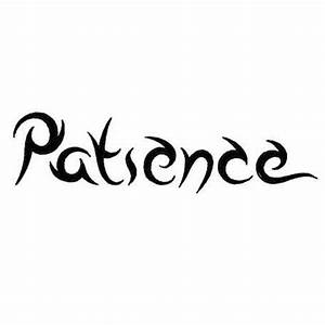 Patience Word Tattoo Design - Tribal Art Style Letters ...