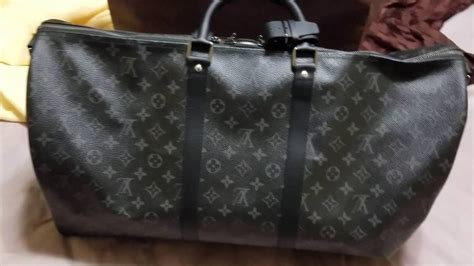 louis vuitton monogram eclipse keepall  unboxing youtube