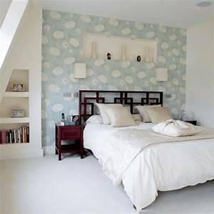 Wandgestaltung Schlafzimmer Lila : 30 interessante vorschl ge f r tapeten im schlafzimmer ~ Markanthonyermac.com Haus und Dekorationen