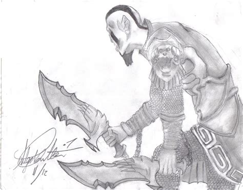 Kratos The God Of War 2 By Hellmasker666 On Deviantart