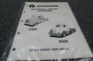 1989 International 9100 9200 9300 9400 9900 Electrical