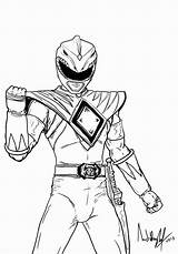 Coloring Power Pages Ranger Morphin Popular Mighty sketch template