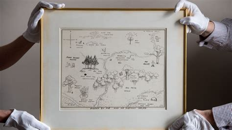 Original Map Of Winnie-the-pooh's Hundred Acre Wood Sells