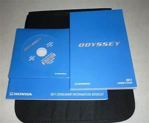 2017 Honda Odyssey Owners Manual Set Guide 17 Cd  Case Lx