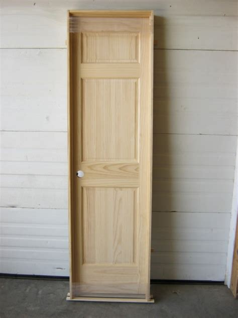 panel raised interior solid pine door unfinished