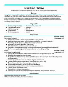 personal services resume examples personal services With nanny resume builder