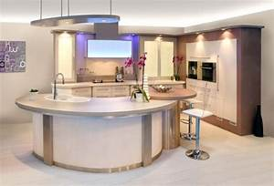 modele cuisine ouverte avec bar incroyable dco cuisine With cuisine avec bar arrondi