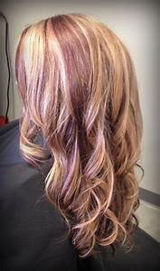 The Gallery For Gt Blonde Hair With Red Lowlights
