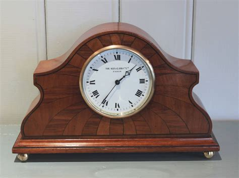 walnut deco influenced mantel clock c 1920 from worboys antiques the uk s
