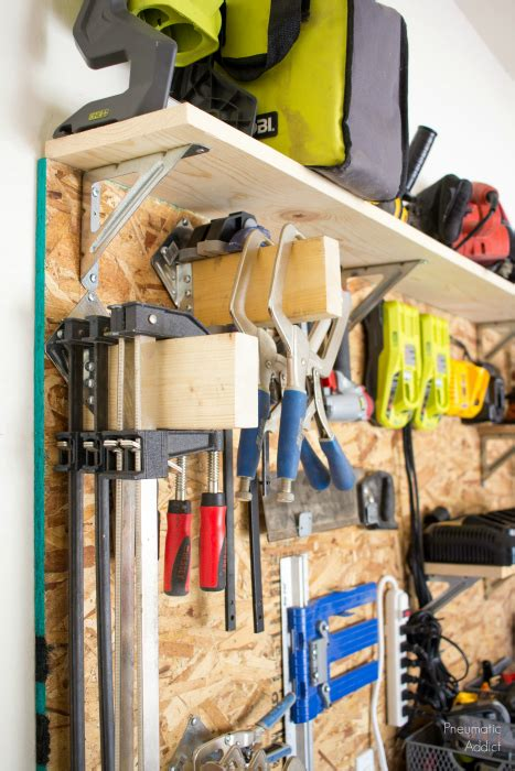 build  diy garage storage wall system building