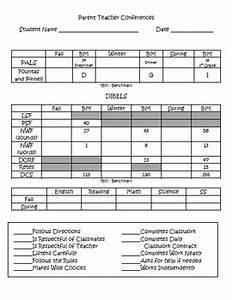 Dibels Scoring Chart Editable Parent Teacher Conference Form By