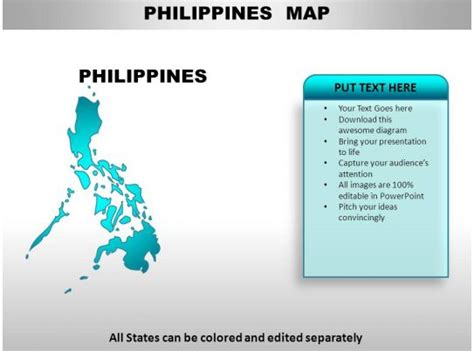philippines country powerpoint maps powerpoint templates