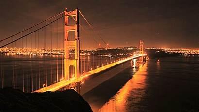 Gate Golden Bridge Francisco San Cinemagraph Night
