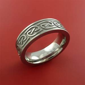 titanium celtic band narrow infinity symbolic wedding ring With how wedding rings are made