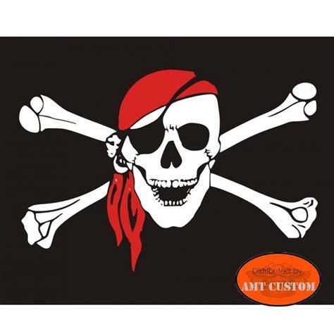 Drapeau fanion tête de mort pirate moto trike LUXE - AMT