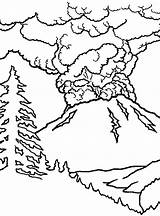 Volcano Coloring Eruption Volcanoes Drawing Erupting Netart Trending Days Getdrawings sketch template